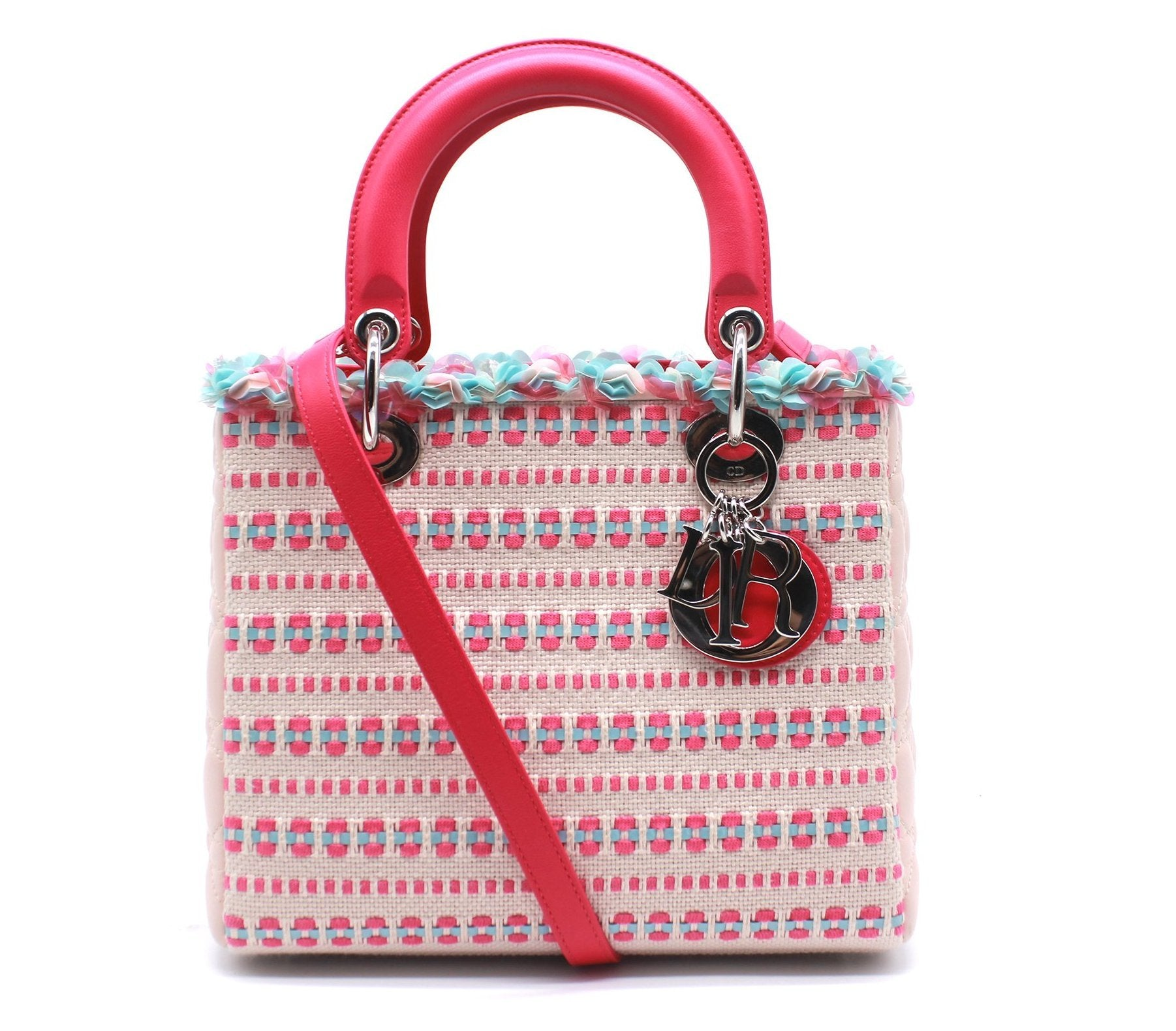 Christian Dior Tweed Medium Lady Dior Bag