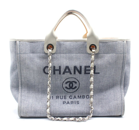 Chanel Canvas Deauville Large Tote