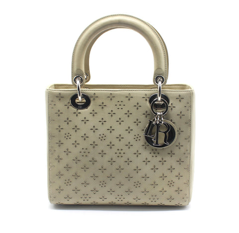 Hollow Out Medium Lady Dior two-way handbag