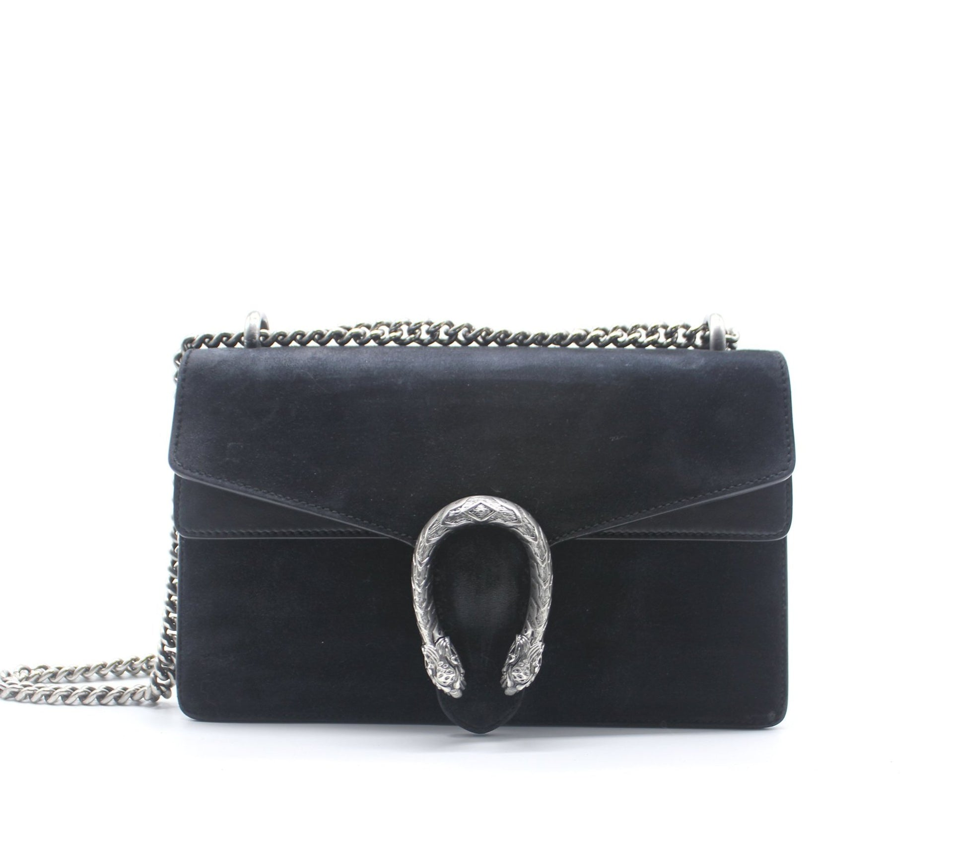 Dionysus Small Suede and Leather Bag