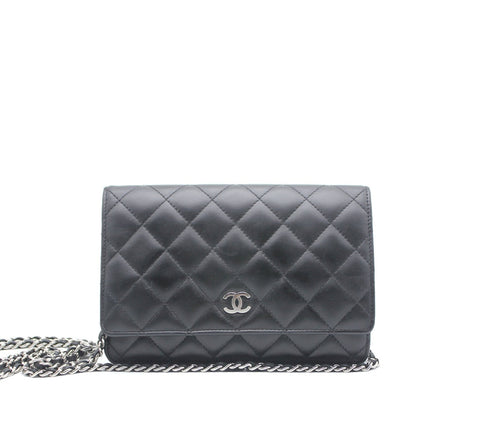 Chanel quilted wallet on chain woc