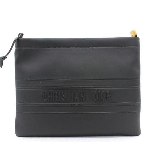 30 Montaigne Black Calfskin Clutch