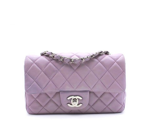 Classic Flap Mini Lambskin Light Purple