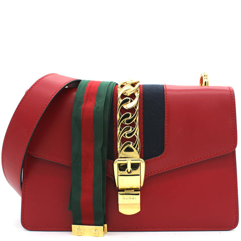 Sylvie Small Shoulder Bag Red