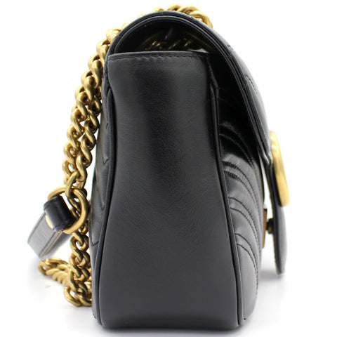 GG Marmont matelassé shoulder bag Black