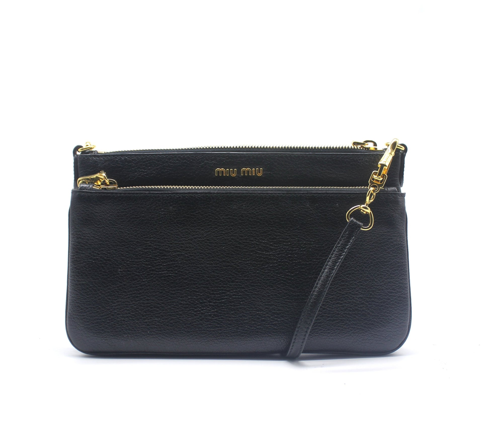 Miu Miu Textured-leather Shoulder Bag