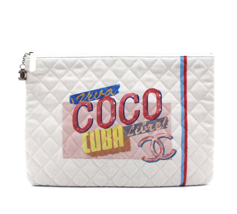 Chanel Coco Cuba Lible Clutch Canvas
