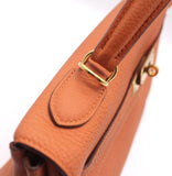 Hermes Orange Togo Leather Kelly 32
