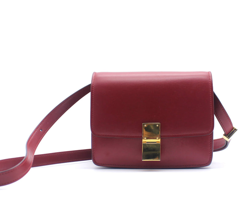 Smooth Calfskin Small Classic Box Flap Red