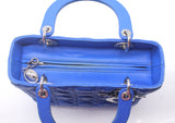 Medium Lady Dior in Blue Lambskin Leather
