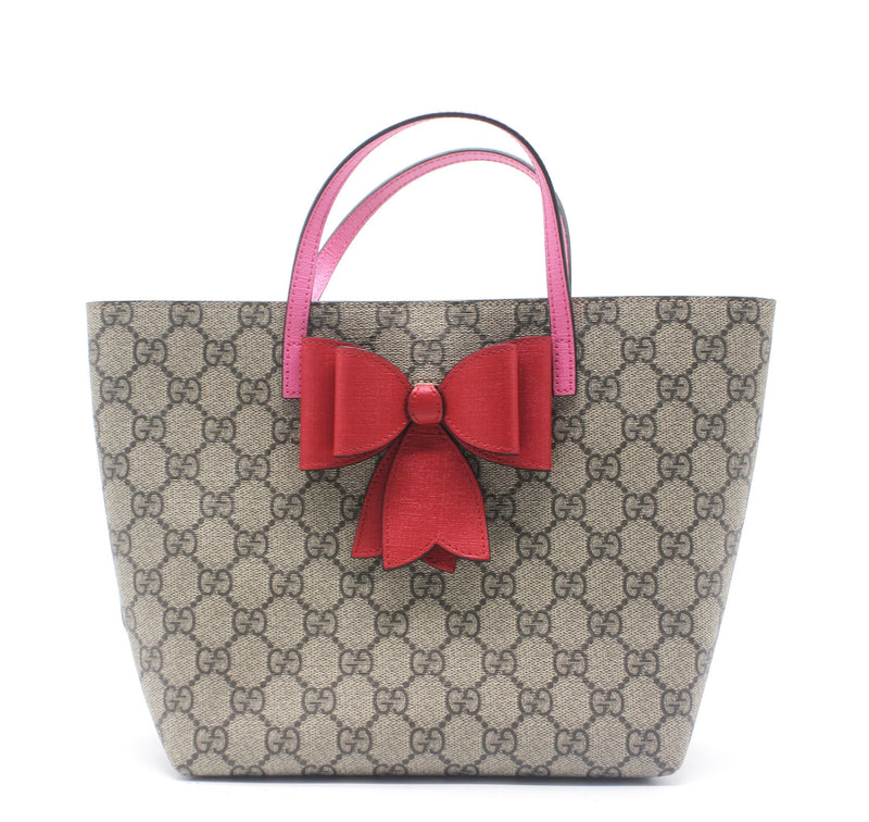 Gucci Children's GG Supreme bow tote