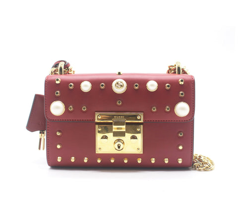 Padlock Small Studded Shoulder Bag