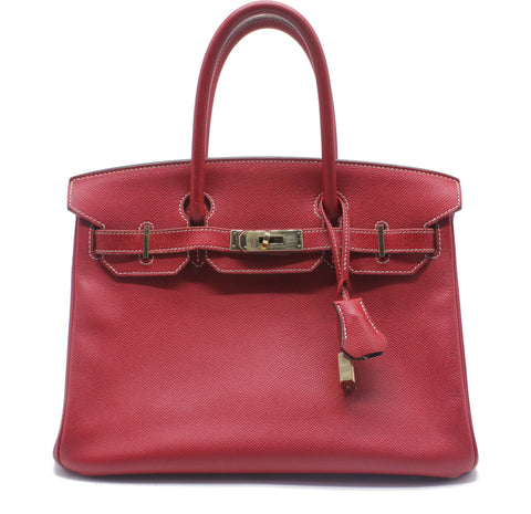 Red Epsom Leather Birkin 30