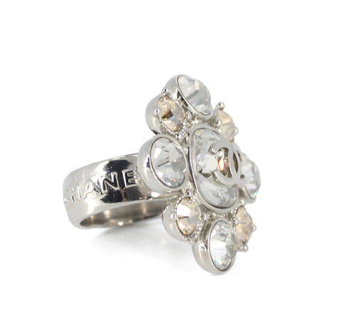 Chanel Crystal Flower Ring