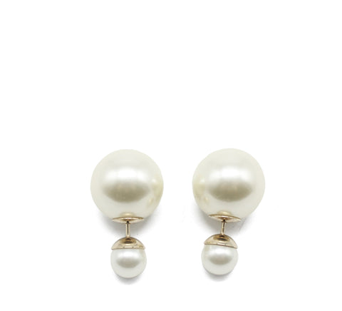 """Dior Tribales"" Earrings with Gold Metal and Pearls"