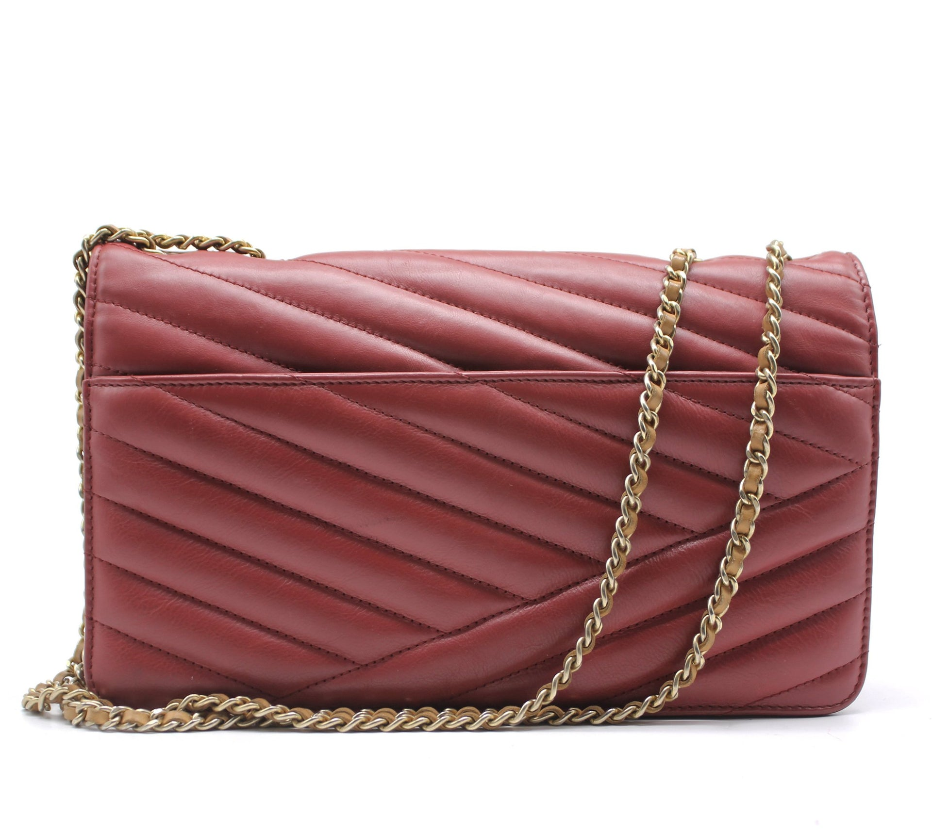 Chanel Gabrielle Flap Bag Chevron Leather