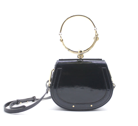 Small Nile Patent leather bracelet bag