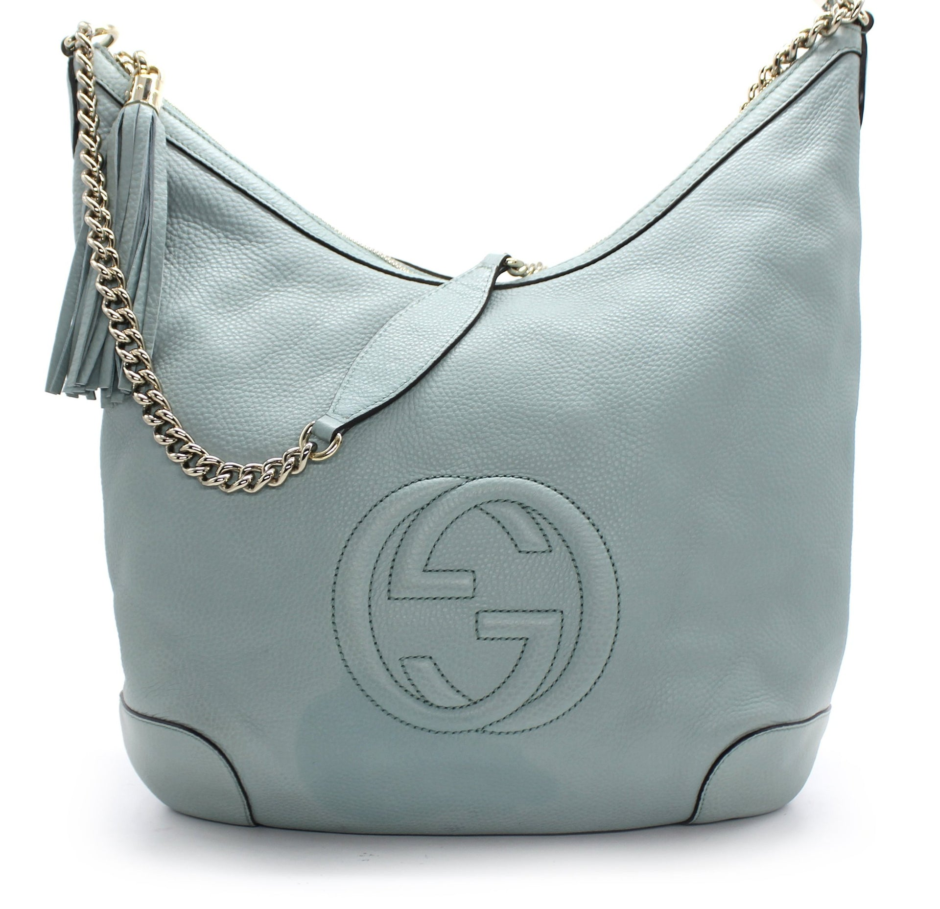 Leather Medium Soho Chain Shoulder Bag