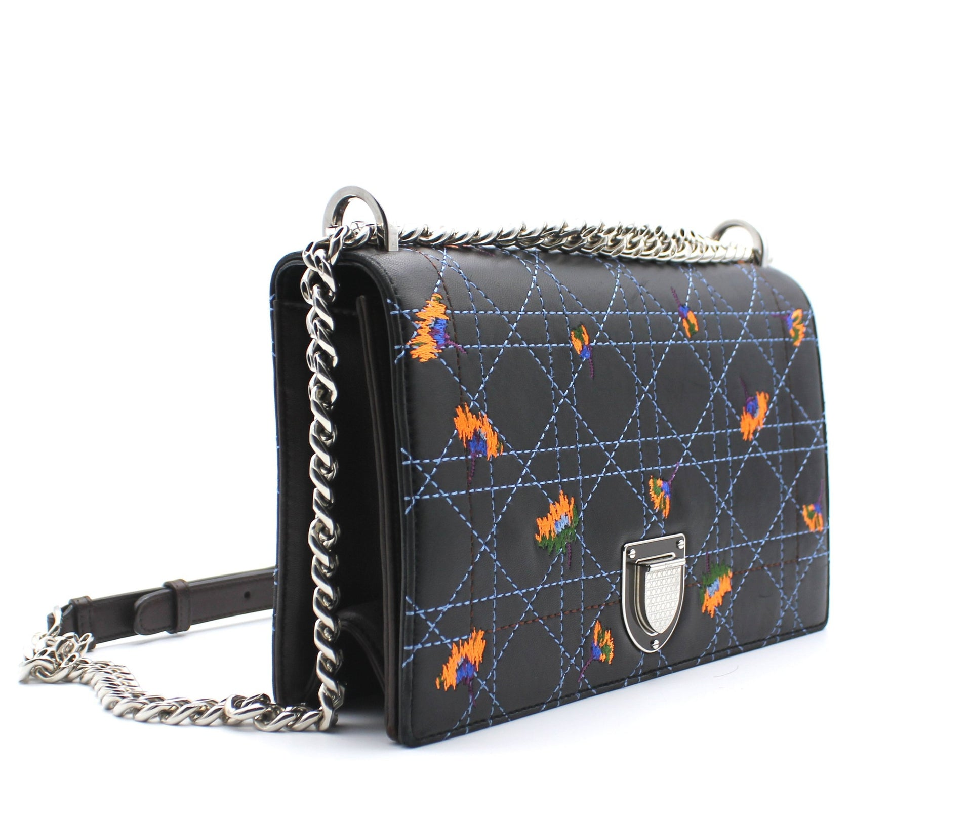 Dior Diorama Embroidered Lambskin Bag