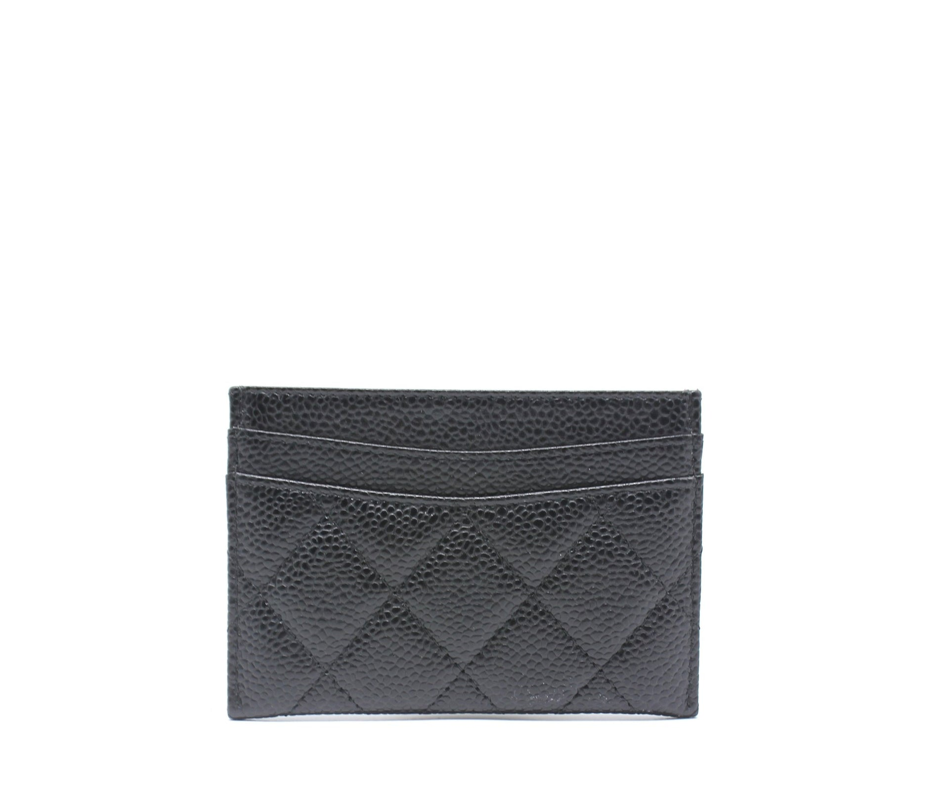 Chanel Caviar Quilted Card Holder Black