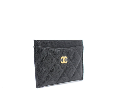 427f76261084 Chanel Caviar Quilted Card Holder Black – STYLISHTOP