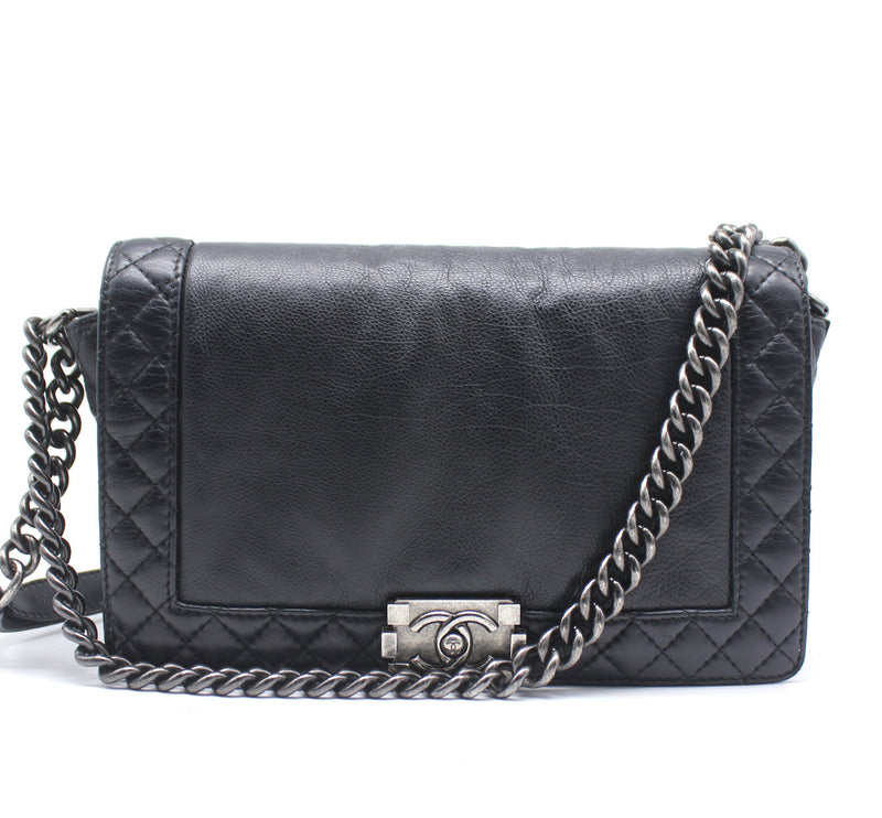 Quilted Black Calfskin Le boy Reverso