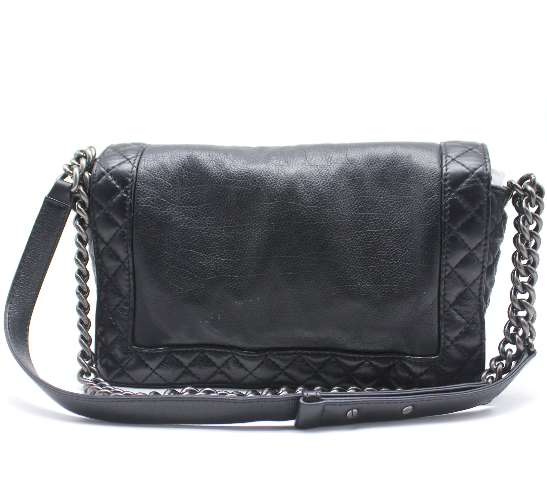 Chanel Quilted Black Calfskin Le boy Reverso