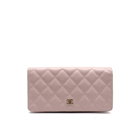 L-Yen Wallet Quilted Lambskin Long