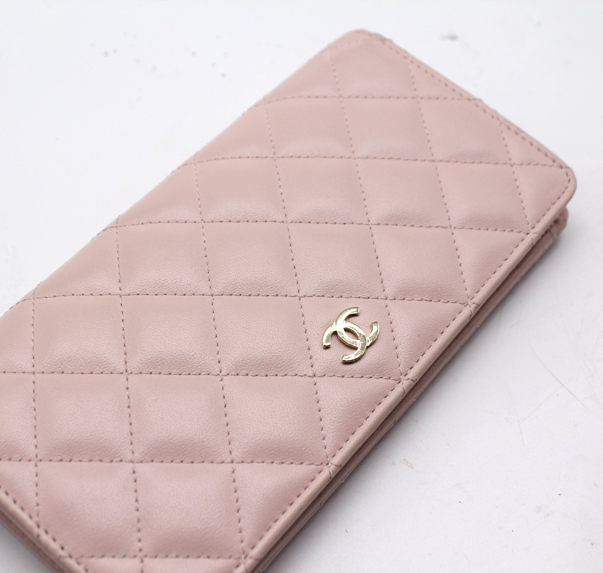 CHANEL L-Yen Wallet Quilted Lambskin Long