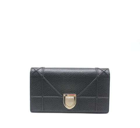 Christian Dior Leather Diorama Wallet