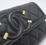 Chanel Quilted Leather CC Long Flap Wallet