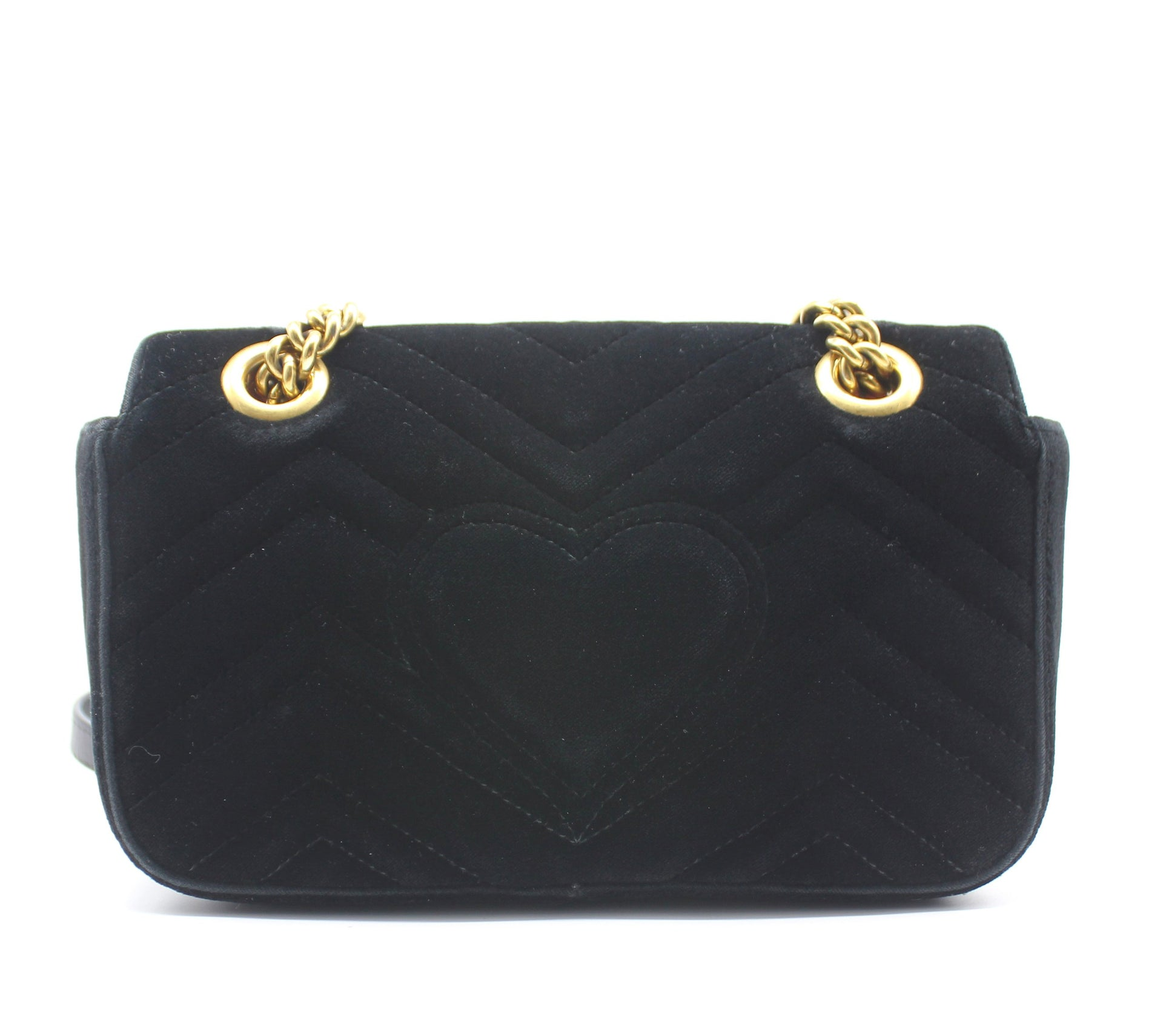 Gucci GG Marmont Small Velvet Quilted Shoulder Bag