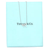 18K White Gold Diamond Mini Bow Pendant Necklace