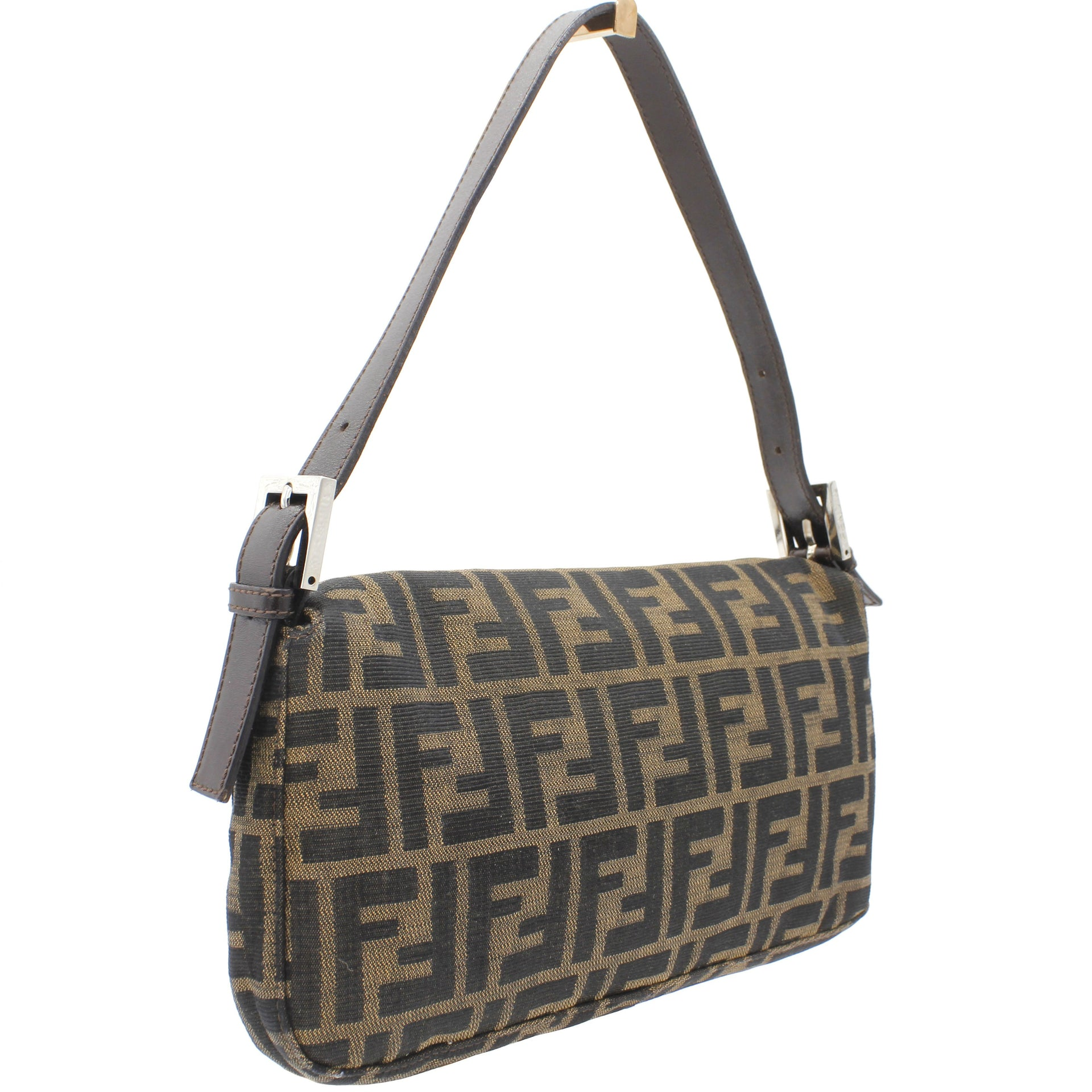 Zucca Baguette Monogram Canvas Shoulder Bag