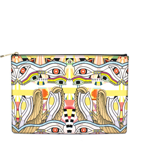 Iconic Dragon Printed Clutch