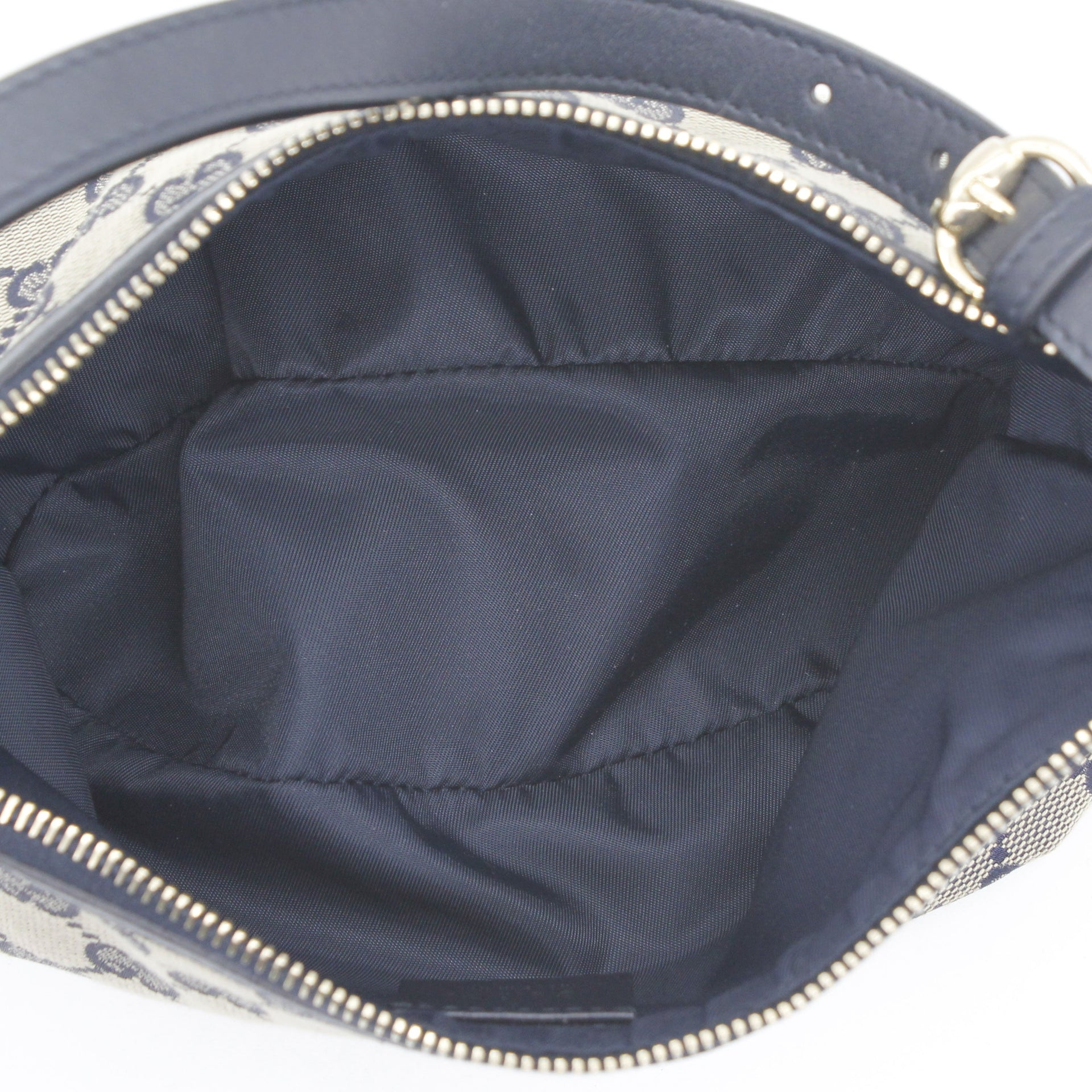Monogram Strap Cosmetic Case Navy