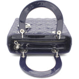 Medium Lady Dior in Blue Pearly Patent Leather
