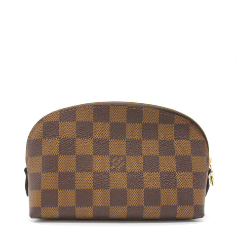 Louis Vuitton Cosmetic Pouch Damier Ebène Canvas