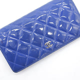 Chanel L-Yen Wallet Quilted Patent Leather Wallet