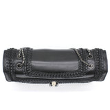 Serpenti Forever Shoulder Bag Plisse Leather Medium