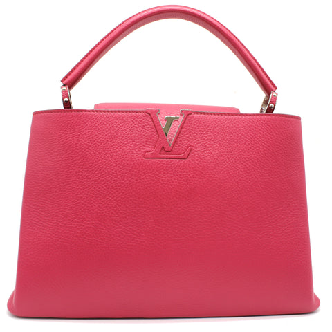 Louis Vuitton Taurillon Parnasséa Capucines MM Bag