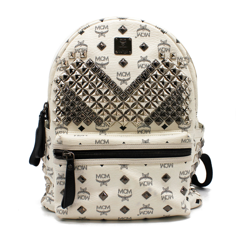 MCM Stark Large M Stud in White