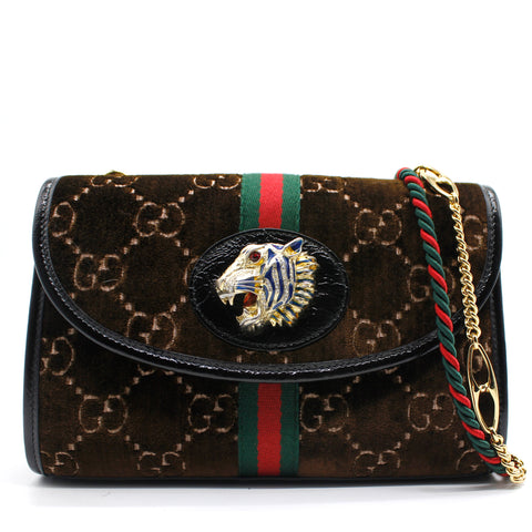 Gucci Rajah GG monogram velvet cross-body bag