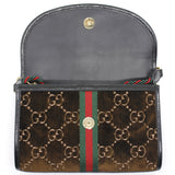 Rajah GG monogram velvet cross-body bag