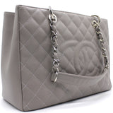 Chanel Caviar Grand Shopping Tote GST Light Grey