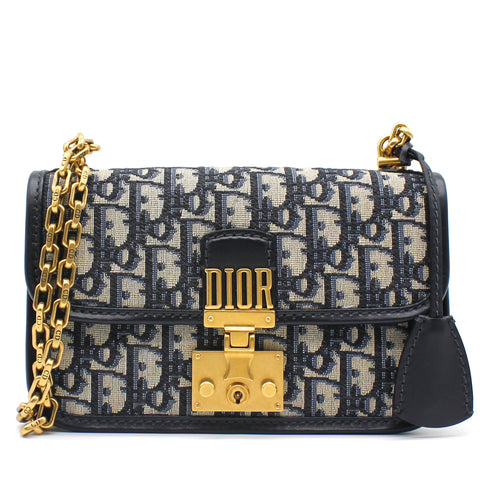 Christian Dior Oblique DiorAddict Flap Bag Black