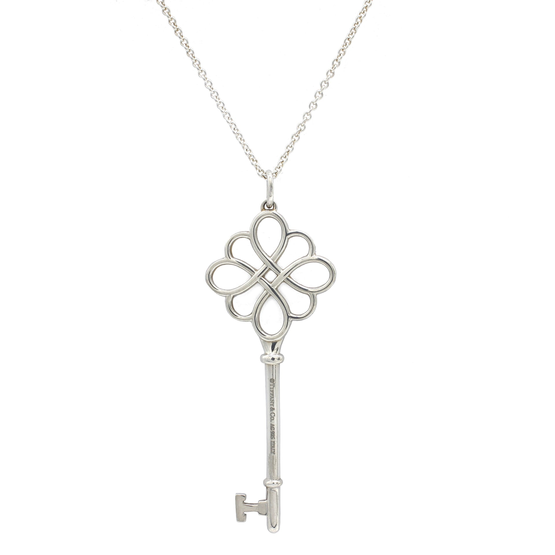 Knot Key Necklace Silver