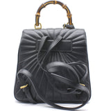 Calfskin Queen Margaret Backpack Black