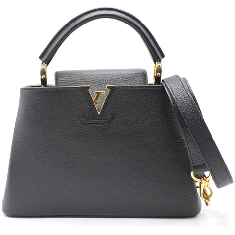 Louis Vuitton Taurillon Capucines BB Noir