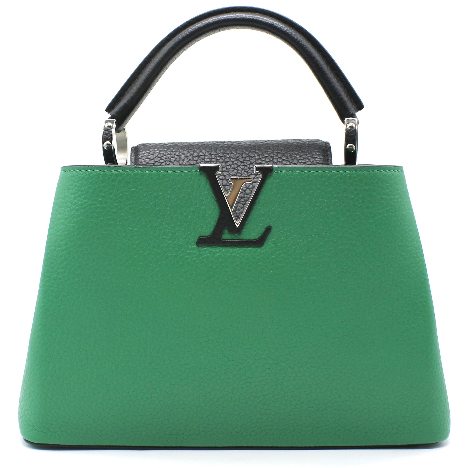 Louis Vuitton Taurillon Capucines BB Green and Black